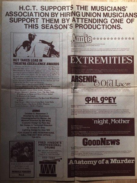 Songwriters Workshop Poster/Flyer, Honolulu, Hawaii, 1984 (2 sides)