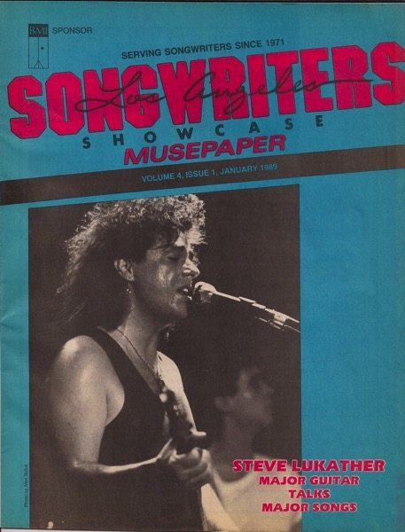 Songwriters Musepaper - Volume 4 Issue 1 - January 1989 - Interview: Steve Lukather: Major Guitar Talks Major Songs