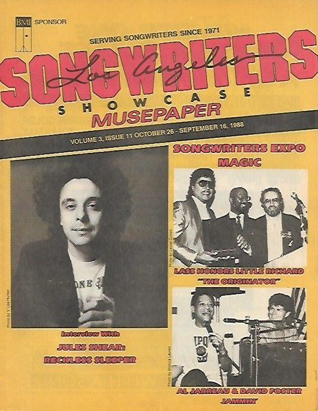 Songwriters Musepaper - Volume 3 Issue 11 - October-November 1988 - Interview: Jules Shear