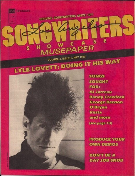 Songwriters Musepaper - Volume 4 Issue 5 - May 1989 - Interview: Lyle Lovett