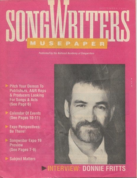Songwriters Musepaper - Volume 11 Issue 9 - September 1996 - Interview: Donnie Fritts