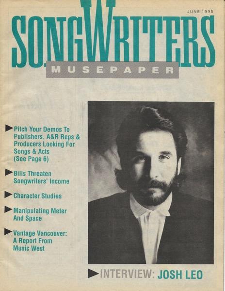 Songwriters Musepaper - Volume 10 Issue 6 - June 1995 - Interview: Josh Leo