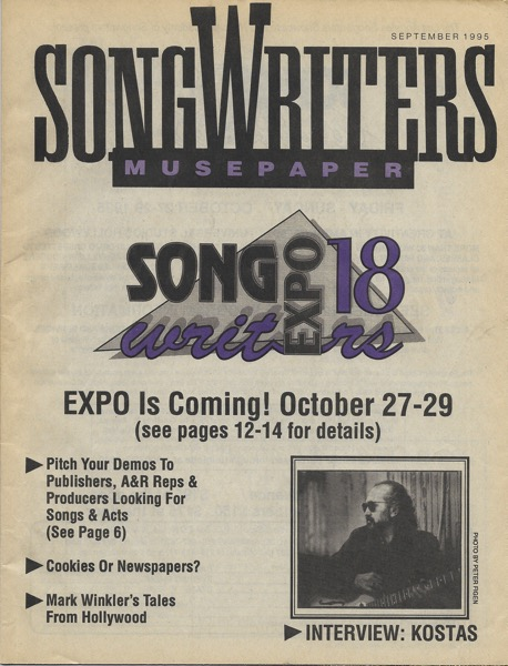 Songwriters Museupaper - Volume 10 Issue 9 - September 1995 - Interview: Kostas