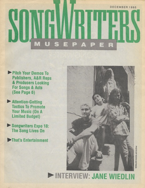 Songwriters Musepaper - Volume 10 Issue 12 - December 1995 - Inteview: Jane Wiedlin