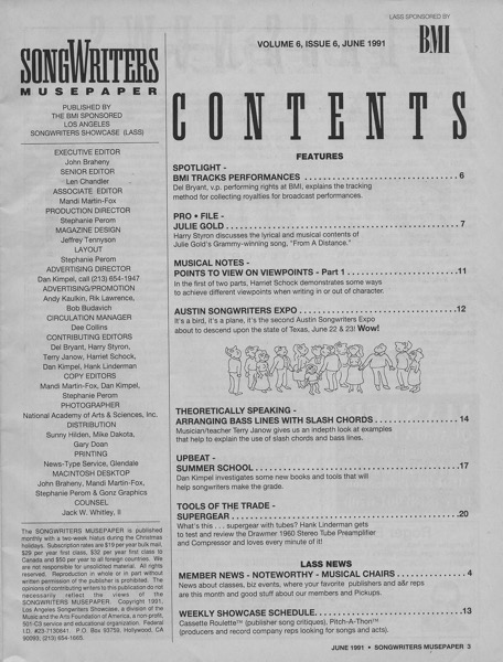 Songwriters Musepaper - Volume 6 Issue 6 - Austin Songwriters Expo