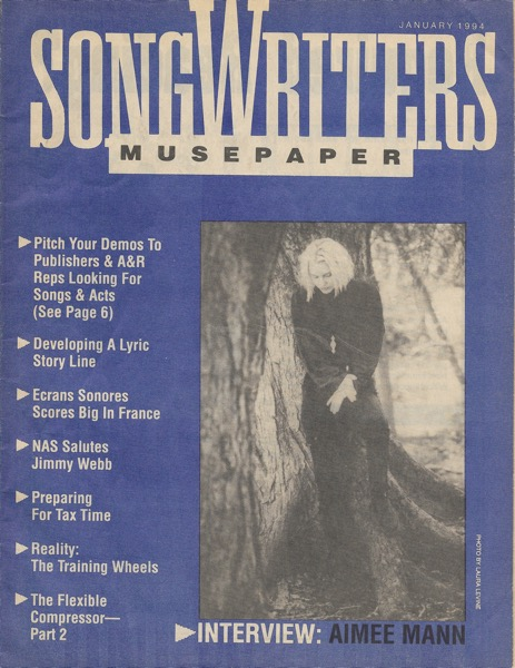 Songwriters Musepaper - Volume 9 Issue 1 - January 1994 - Interview: Aimee Mann